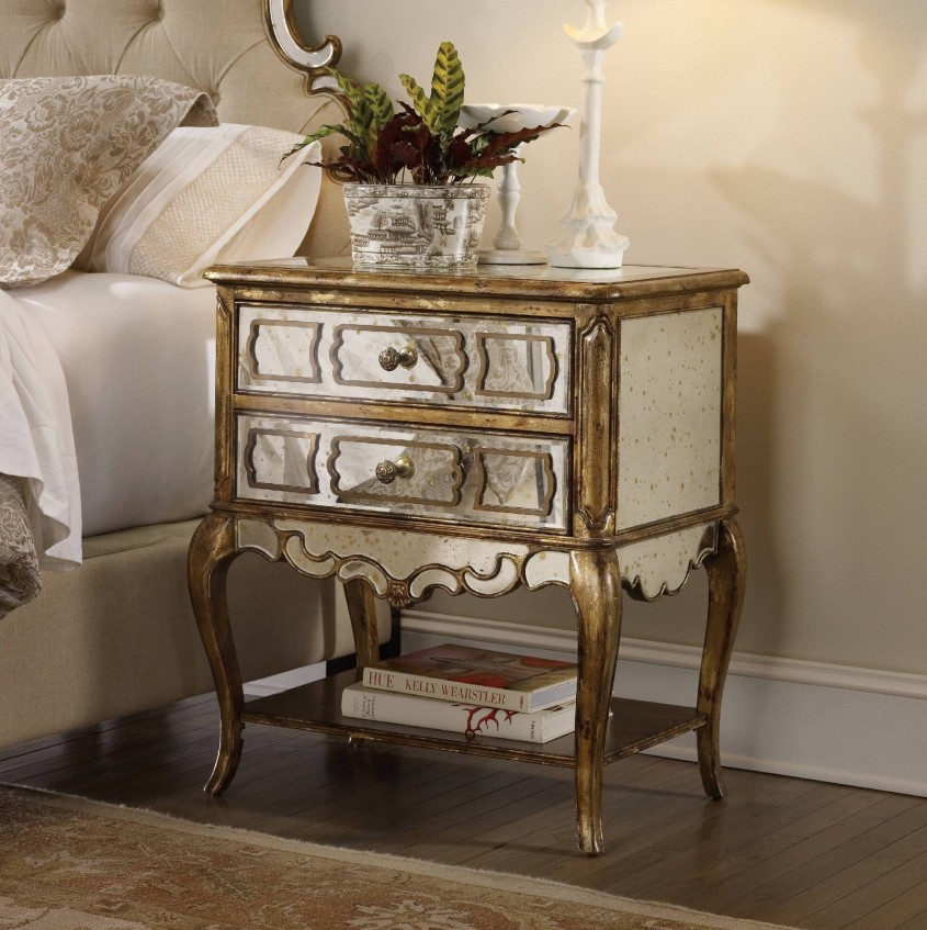 Amazing Mirror Nightstand For Bedroom Furniture With Mirrored Nightstand