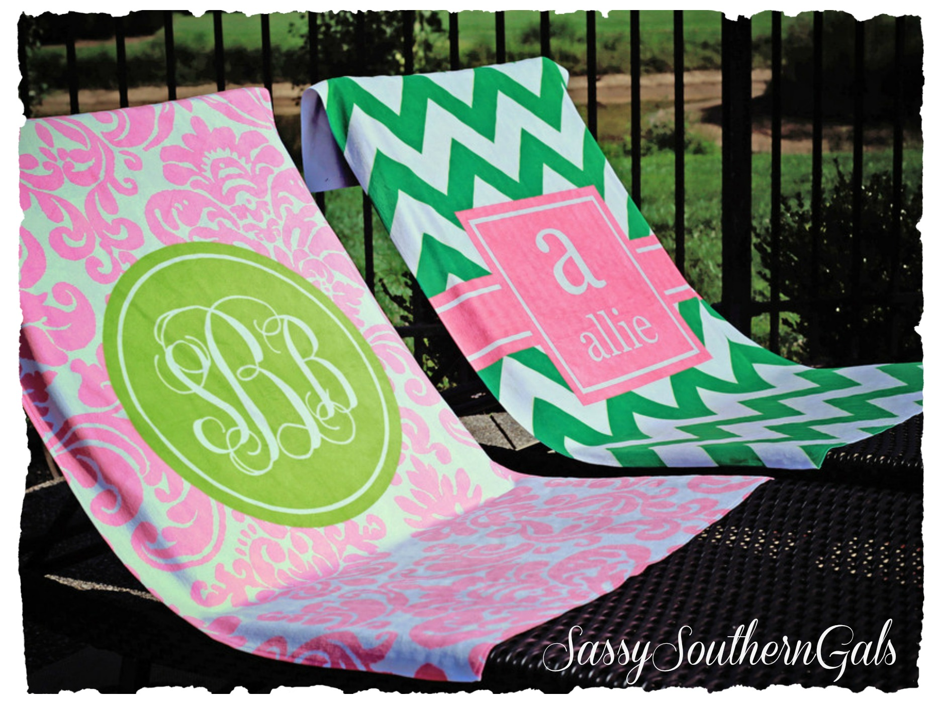 Amazing Monogrammed Beach Towels For Outdoor Ideas With Beach Towels Monogrammed