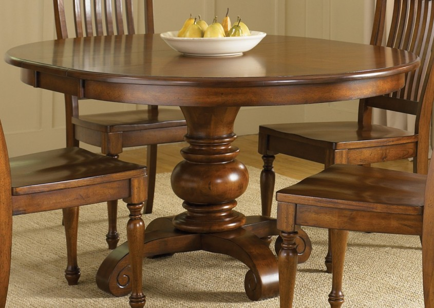 Amazing Pedestal Dining Table And Chairs For Dining Room With Round Pedestal Dining Table