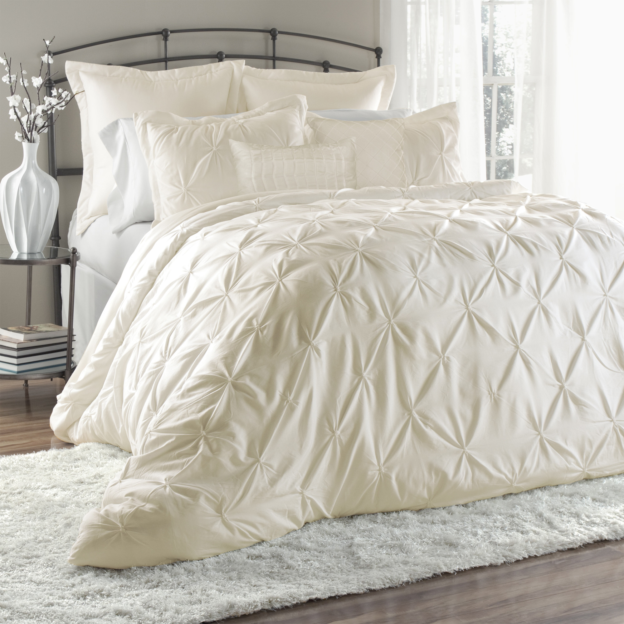 Amazing white comforter sets for charming bedroom ideas with white comforter sets queen