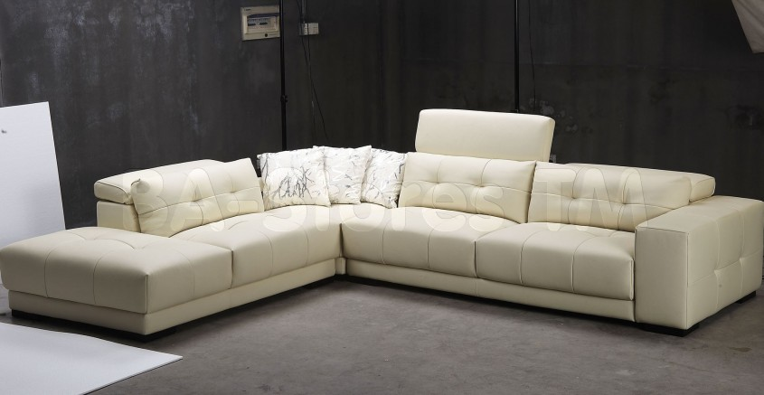 Amazing White Leather Sectional For Living Room With White Leather Sectional Sofa
