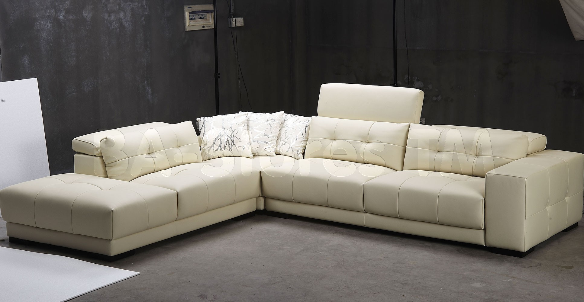 Living Room Design Charming White Leather Sectional For Living Room