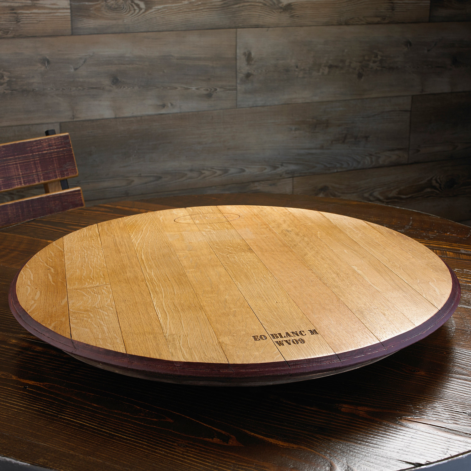 Amazing wine barrel lazy susan for furniture accessories ideas with personalized wine barrel lazy susan