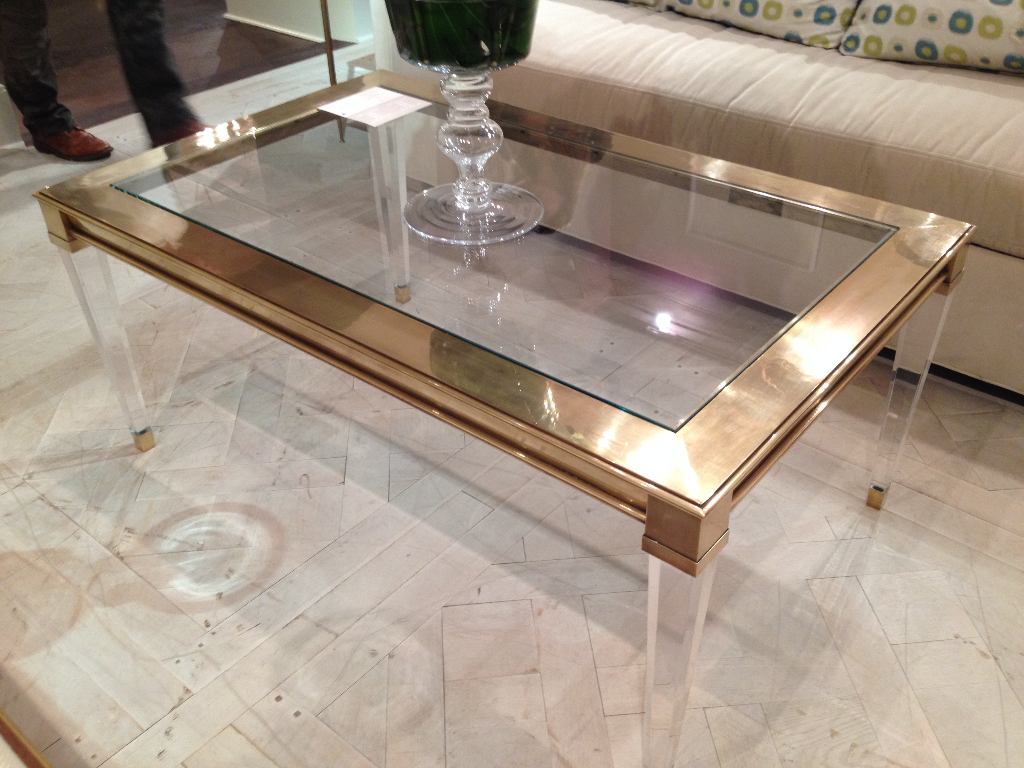 Attractive acrylic coffee table for home furniture with clear acrylic coffee table