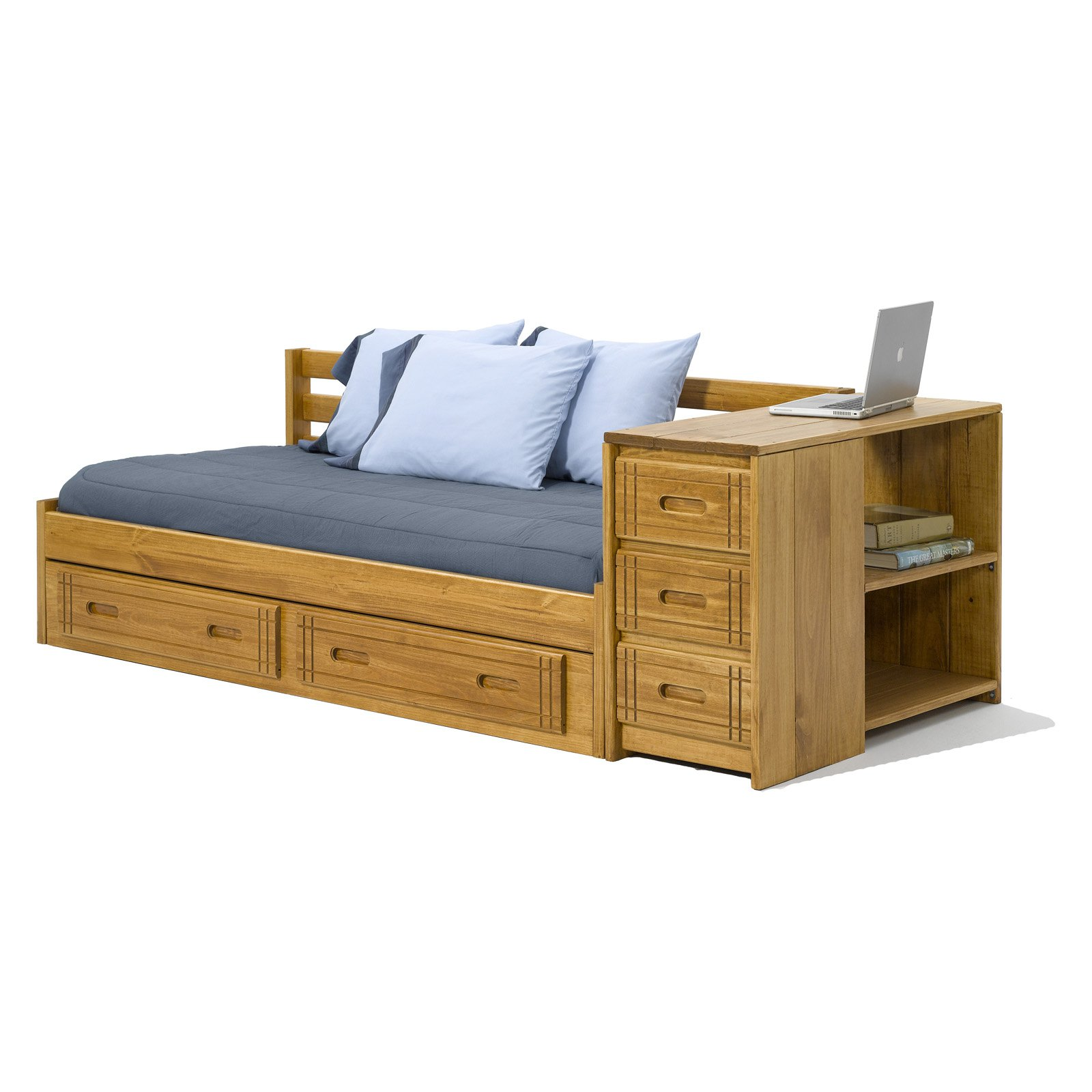 Attractive daybed with storage for small bedroom design with full size daybed with storage