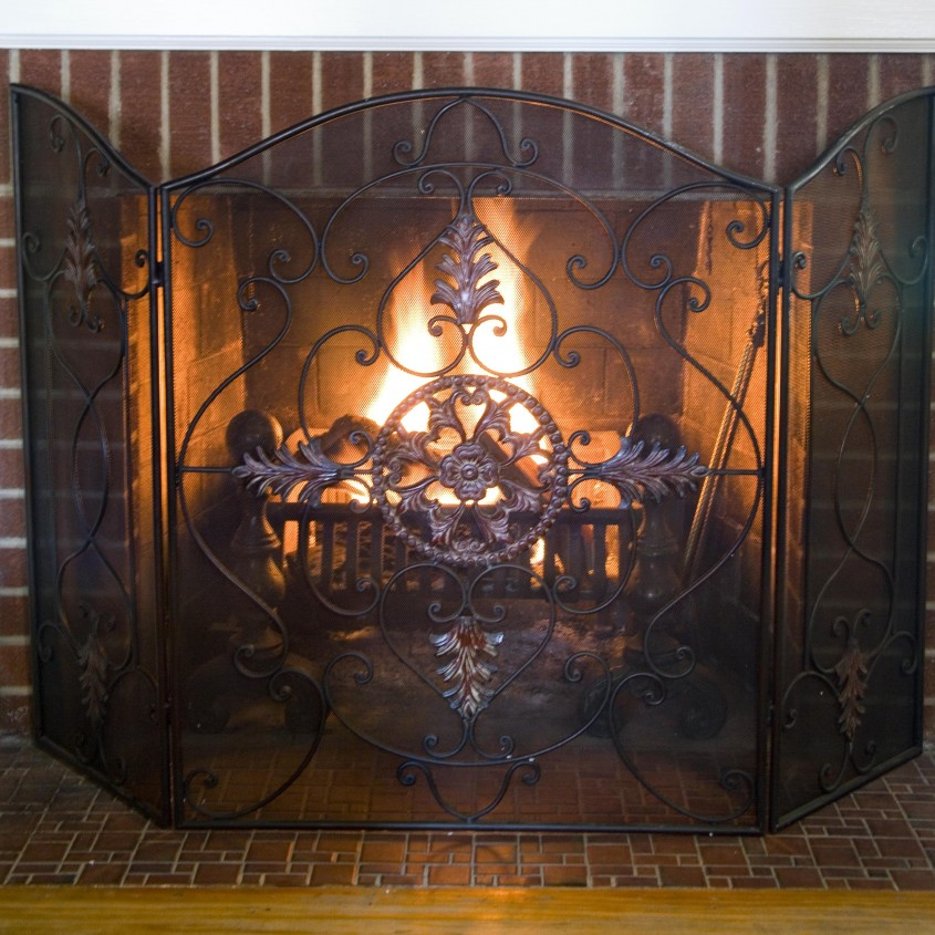 Attractive Fireplace Screen For Home Furniture With Decorative Fireplace Screens