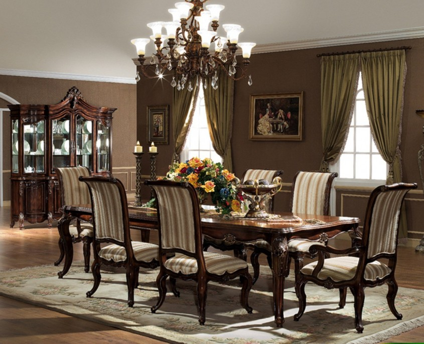 Attractive Formal Dining Room Sets With Buffet And Ceiling Light For Home Design With Modern Formal Dining Room Sets