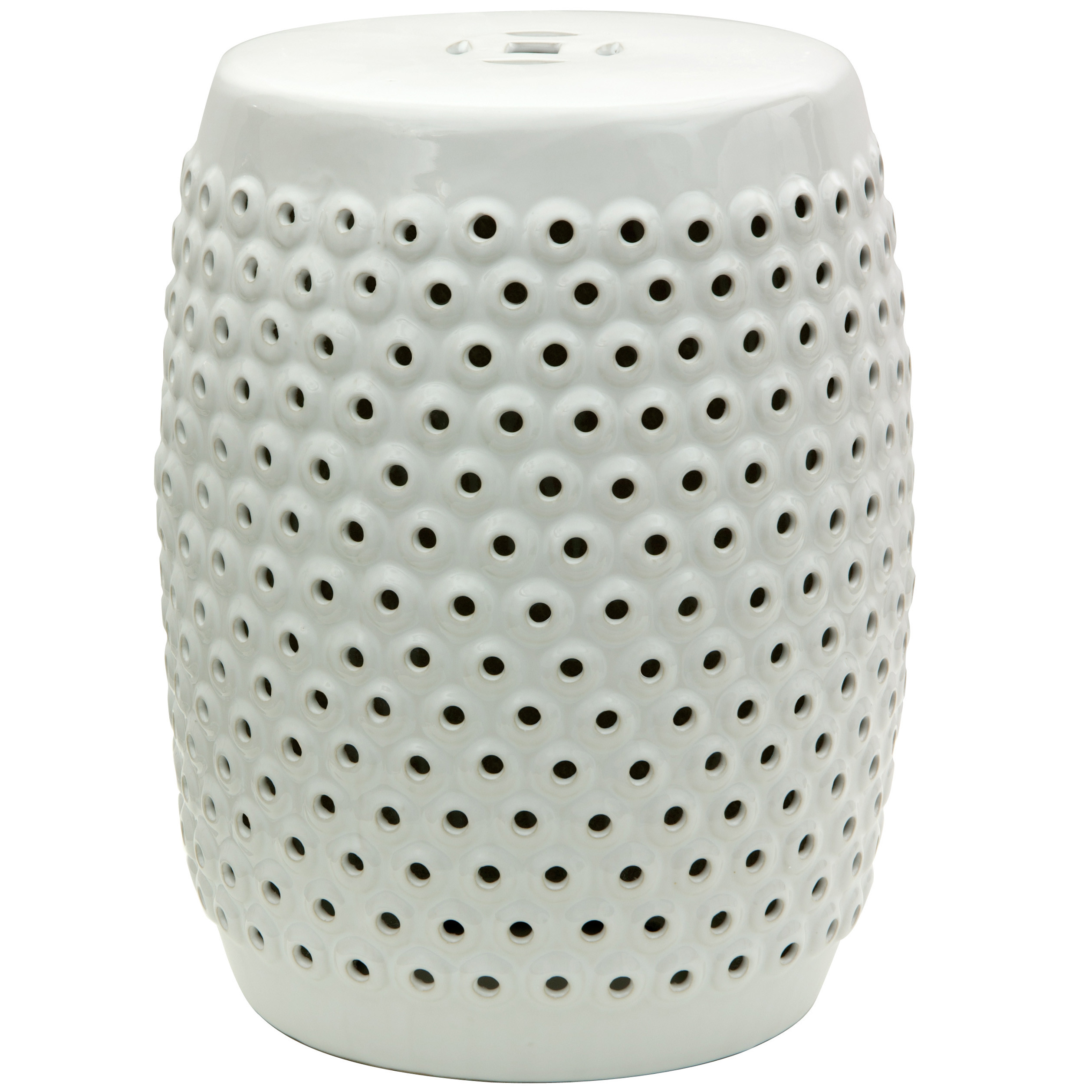 Attractive garden stool for decorating interior ideas with white garden stool