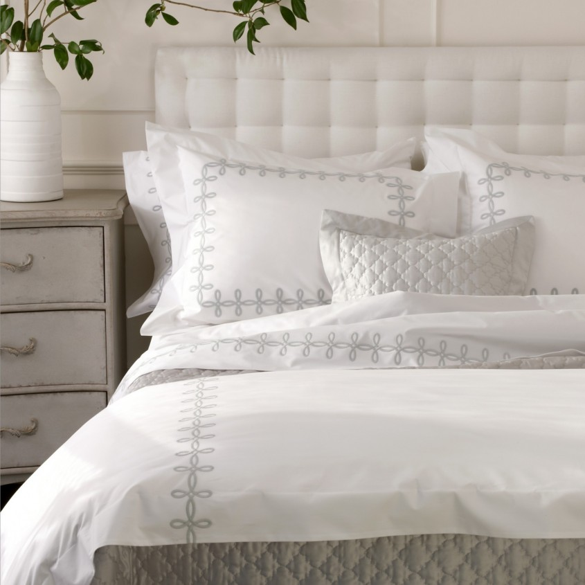 Attractive Matouk Sheets With Pillows And White Cabinet For Bedroom With Matouk Sheets Sale