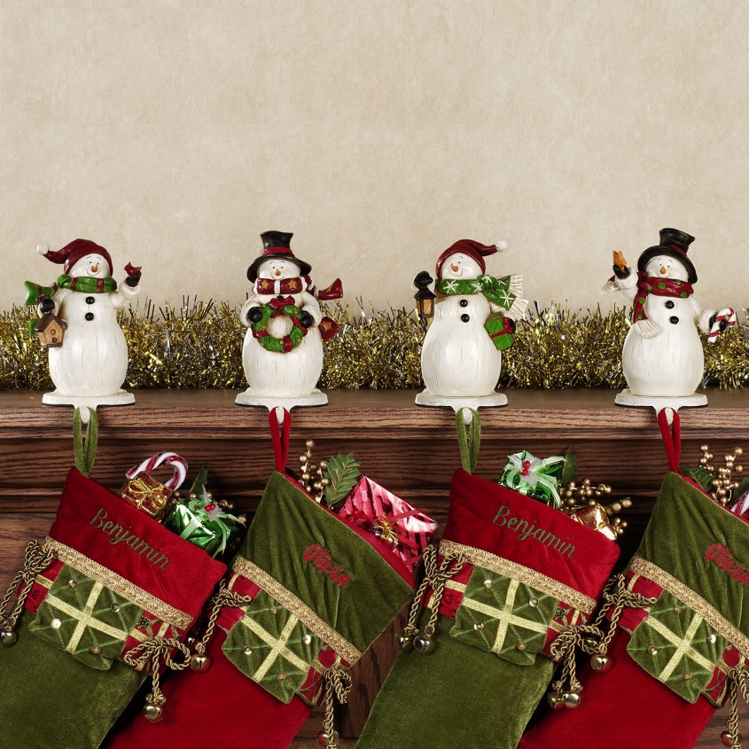 Attractive Stocking Holder For Interior Decor Ideas With Christmas Stocking Holders