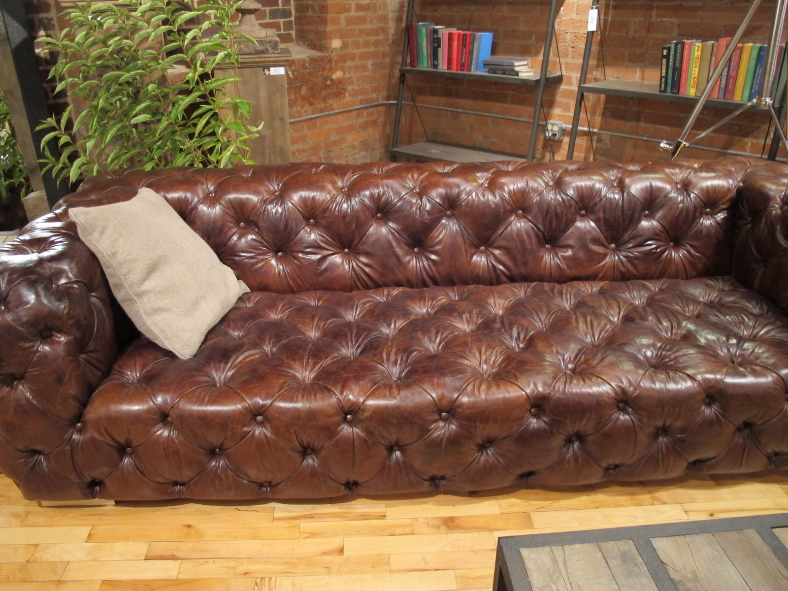 set ottoman sectional with leather decofurnish large designs tufted chaise dark and wonderful brown