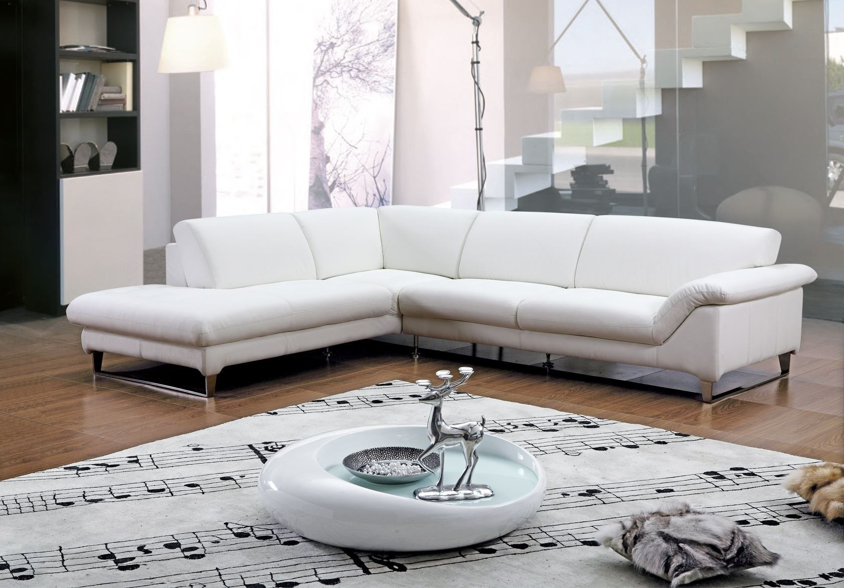 White Leather Sectional Sofa With Chaise Has One Of The Best Kind Of Other Is Modern Contemporary White Leather Chaise Sofa Sets With