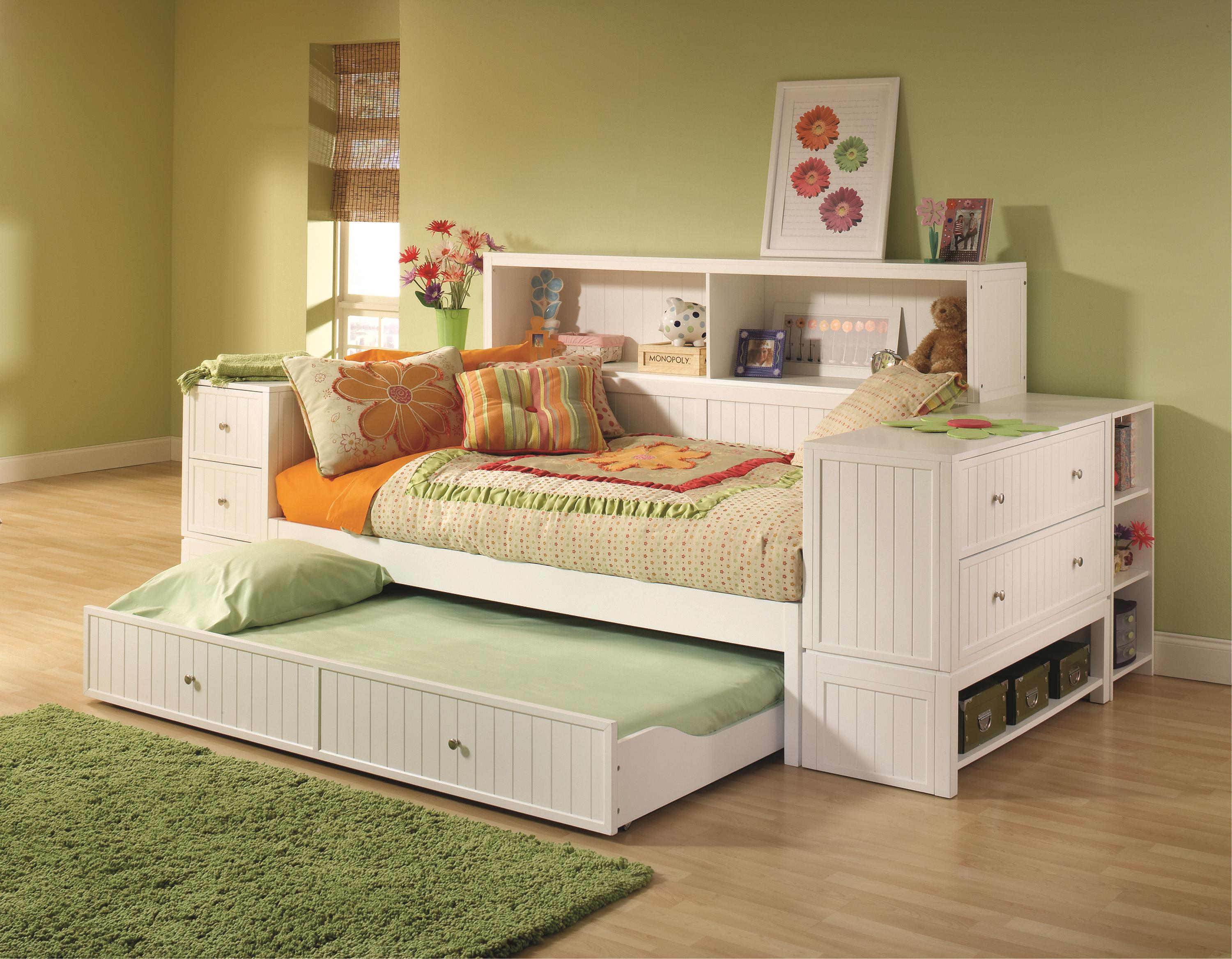 Awesome daybed with storage for small bedroom design with full size daybed with storage