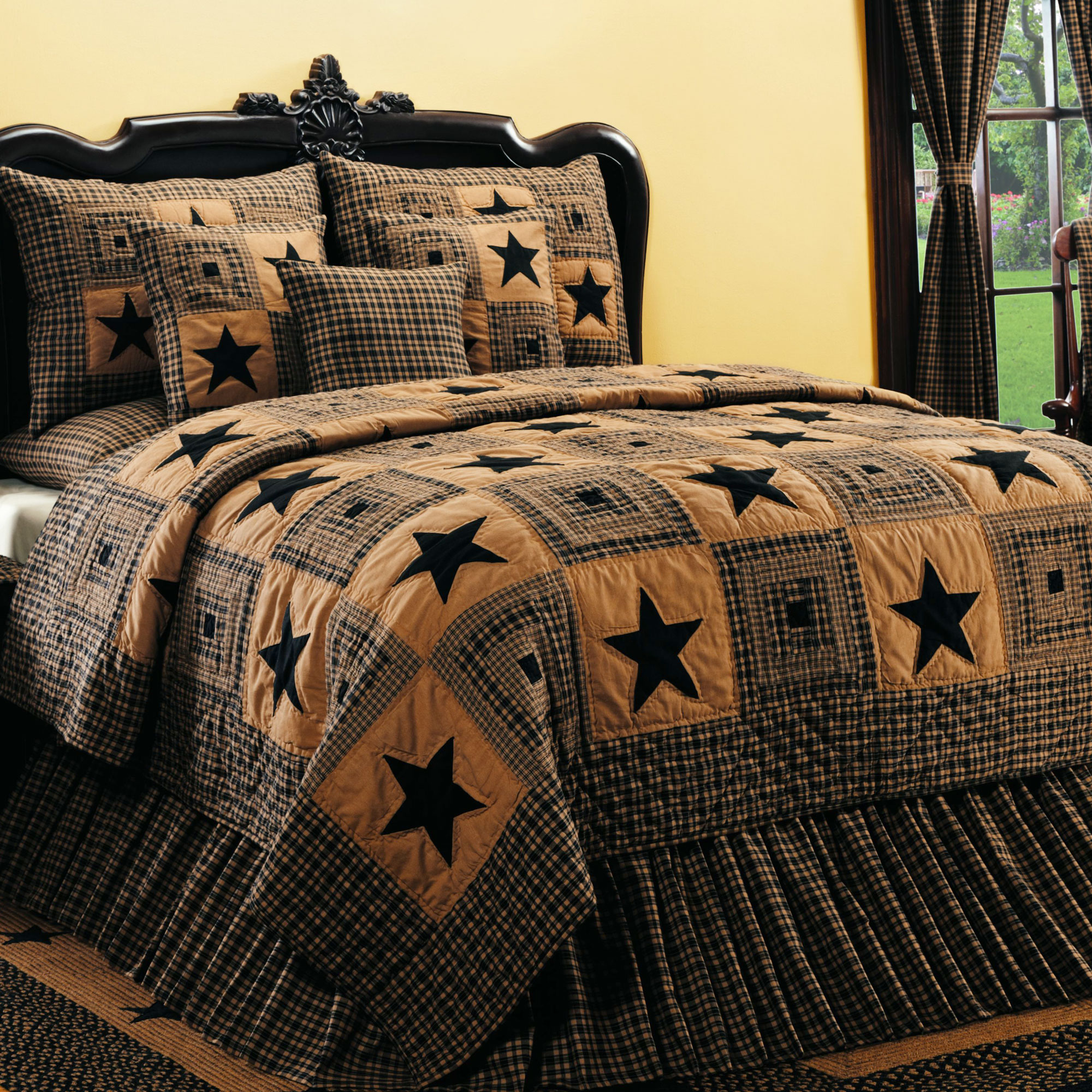 Awesome king size quilts for modern bedroom design with king size quilt dimensions