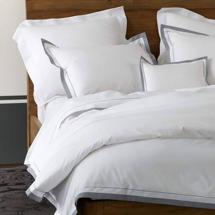 Awesome Matouk Sheets With Pillows And Wooden Cabinet For Bedroom With Matouk Sheets Sale
