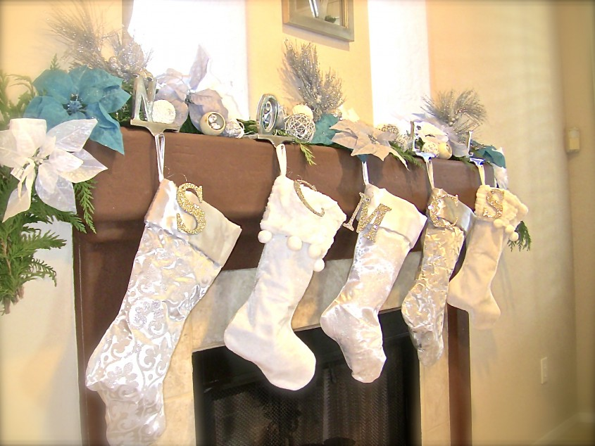 Awesome Monogrammed Christmas Stockings For Christmas Decor Ideas With Monogram Christmas Stockings