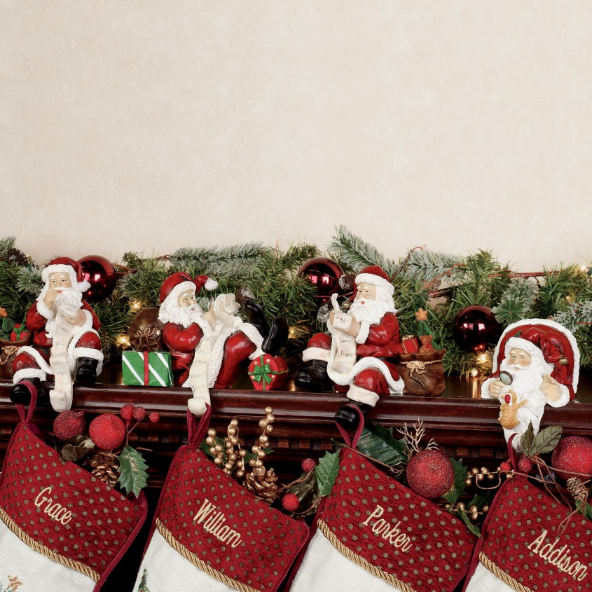 Awesome Stocking Holder For Interior Decor Ideas With Christmas Stocking Holders