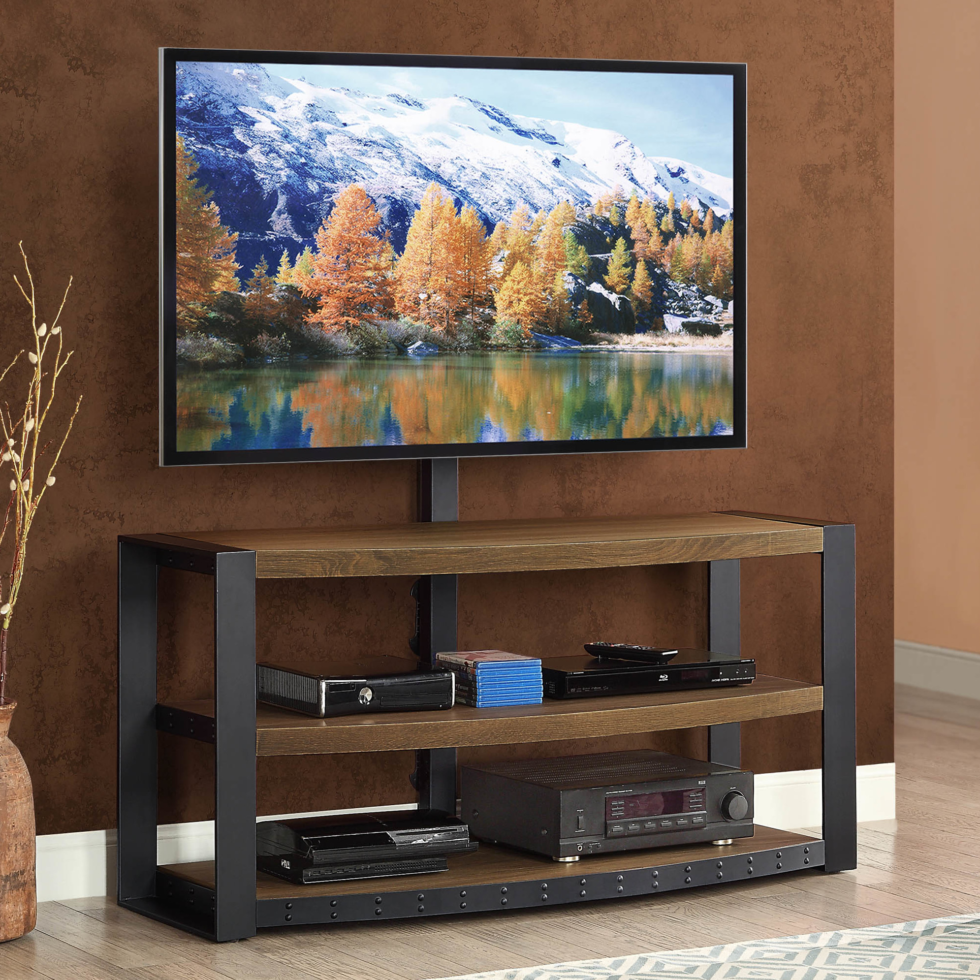 Awesome whalen tv stand for furniture accessories design with whalen 3-in-1 tv stand