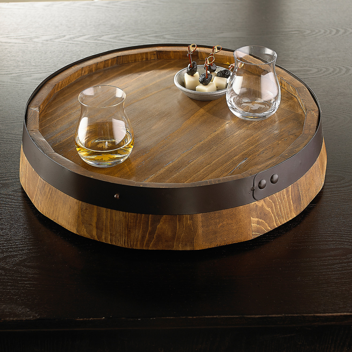Awesome wine barrel lazy susan for furniture accessories ideas with personalized wine barrel lazy susan