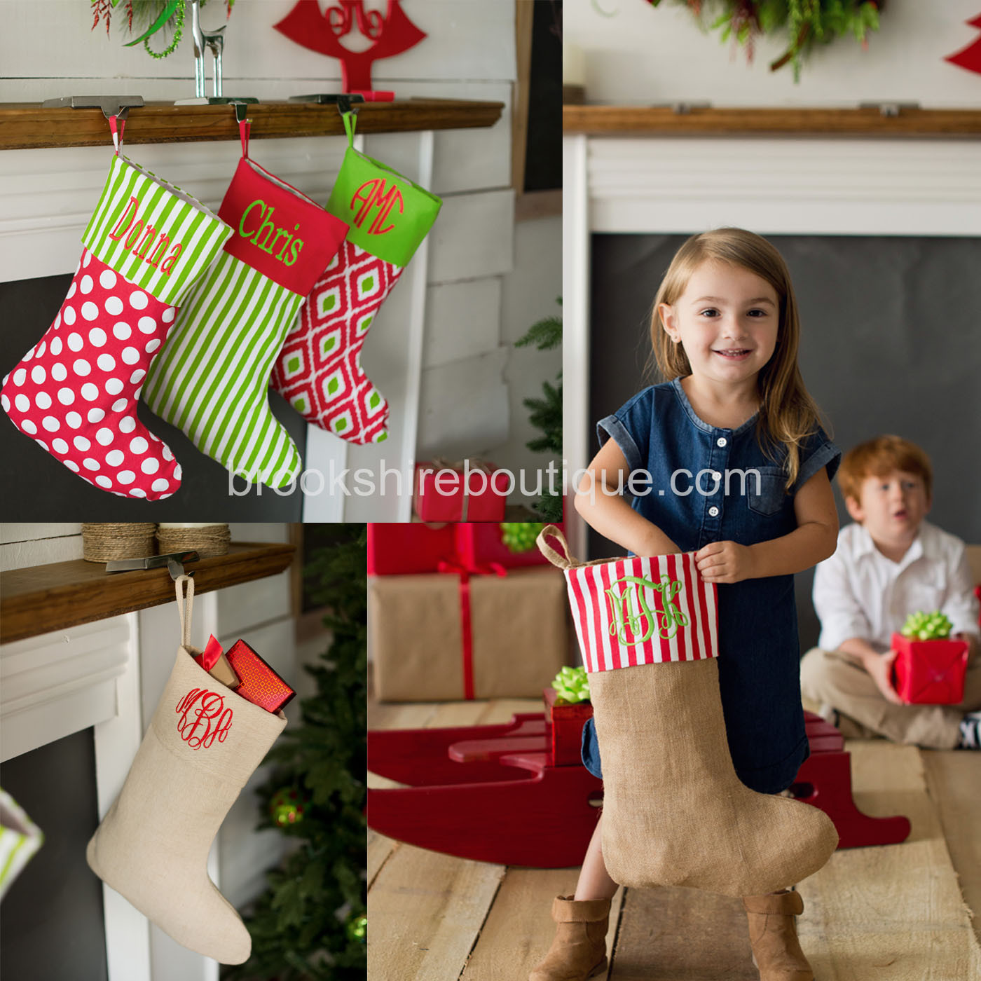 Beautiful monogrammed christmas stockings for christmas decor ideas with monogram christmas stockings