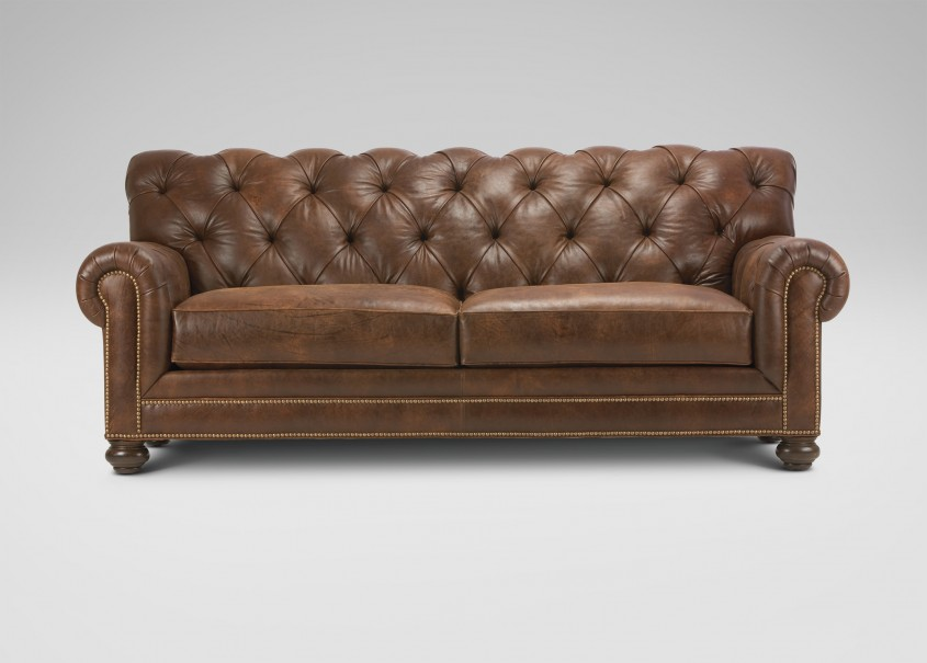 Beautiful Tufted Leather Sofa For Living Room Design With Tufted Leather Sectional Sofa