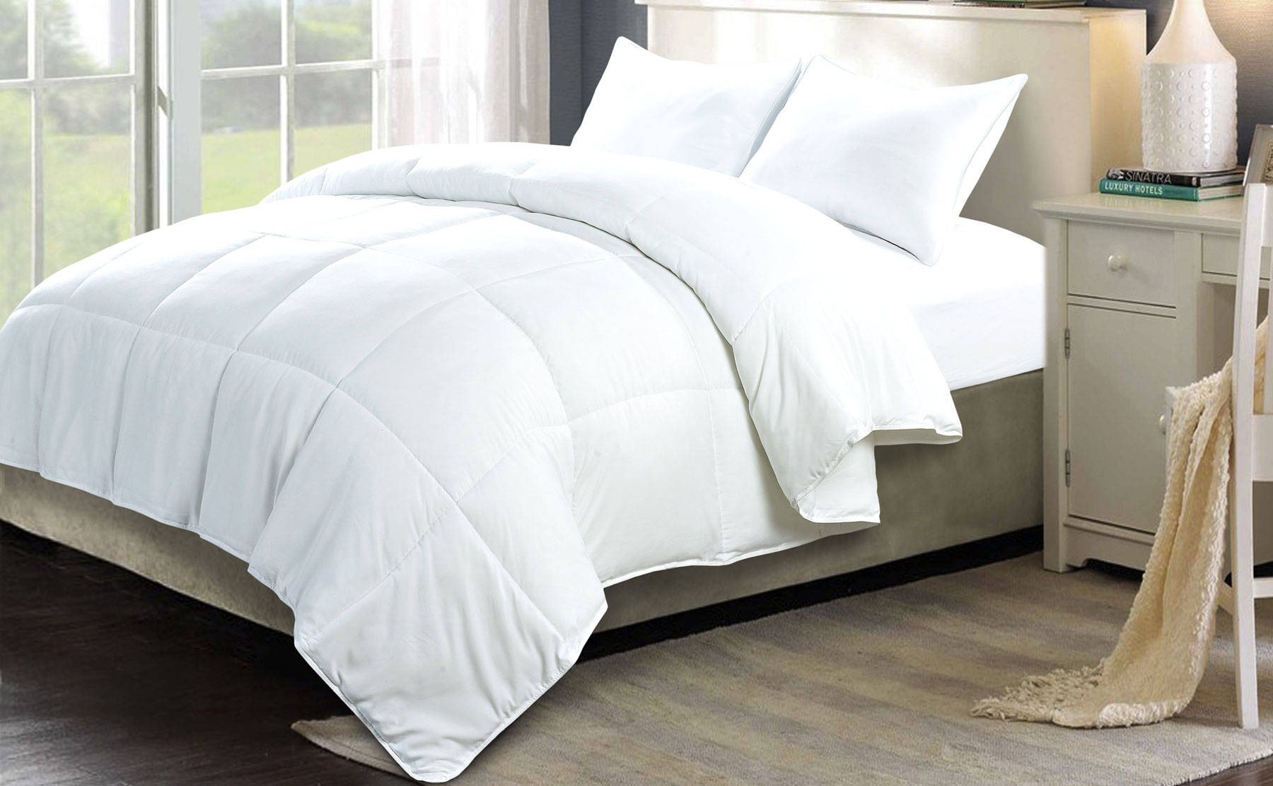 Beautiful white comforter sets for charming bedroom ideas with white comforter sets queen