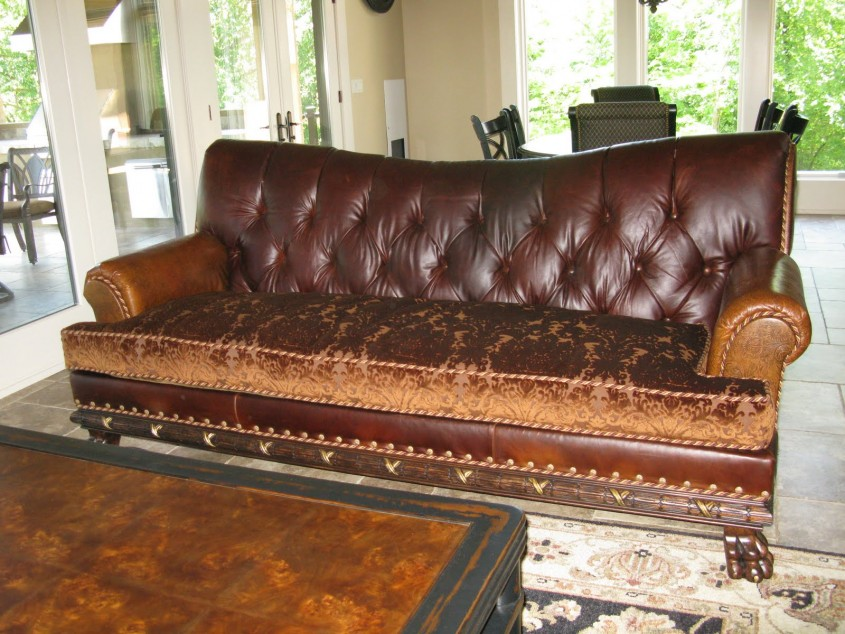 Best Tufted Leather Sofa For Living Room Design With Tufted Leather Sectional Sofa