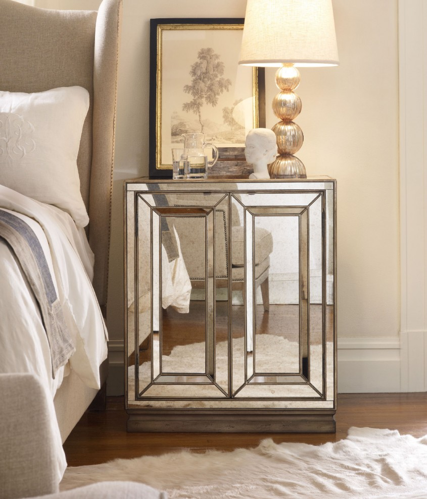 Breathtaking Mirror Nightstand For Bedroom Furniture With Mirrored Nightstand
