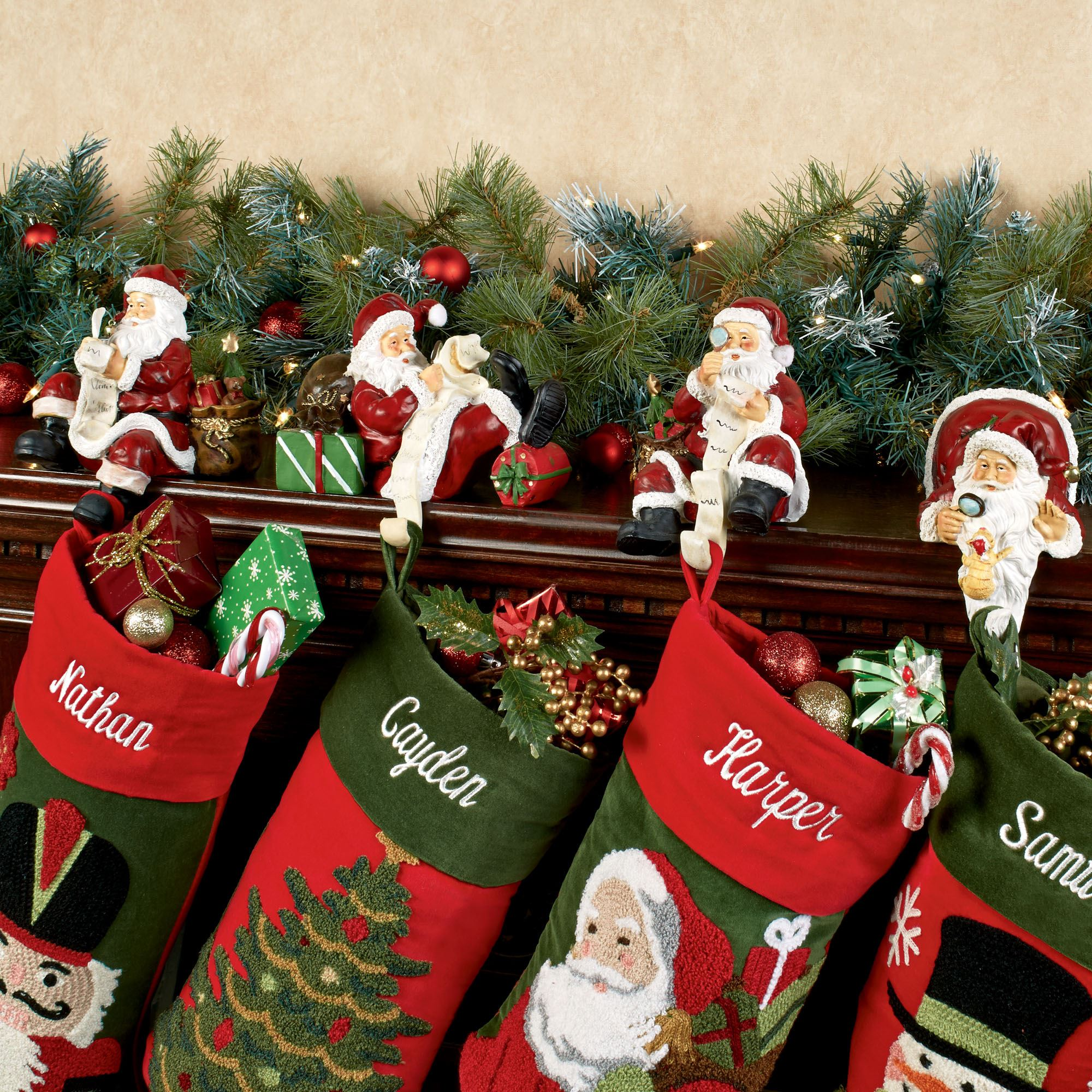 Breathtaking stocking holder for interior decor ideas with christmas stocking holders