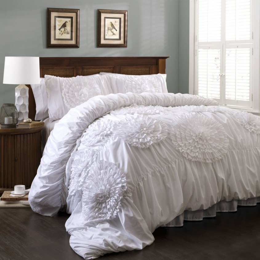Breathtaking White Comforter Sets For Charming Bedroom Ideas With White Comforter Sets Queen