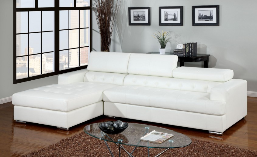 Breathtaking White Leather Sectional  For Small Spaces Living Room With White Leather Sectional Sofa
