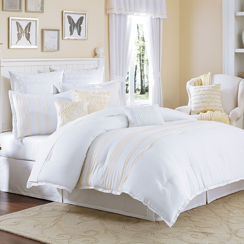 Brilliant White Comforter Sets For Charming Bedroom Ideas With White Comforter Sets Queen