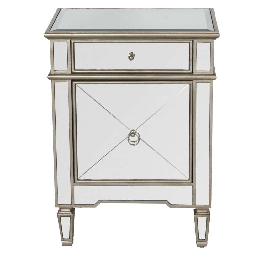 Captivating Mirror Nightstand For Bedroom Furniture With Mirrored Nightstand