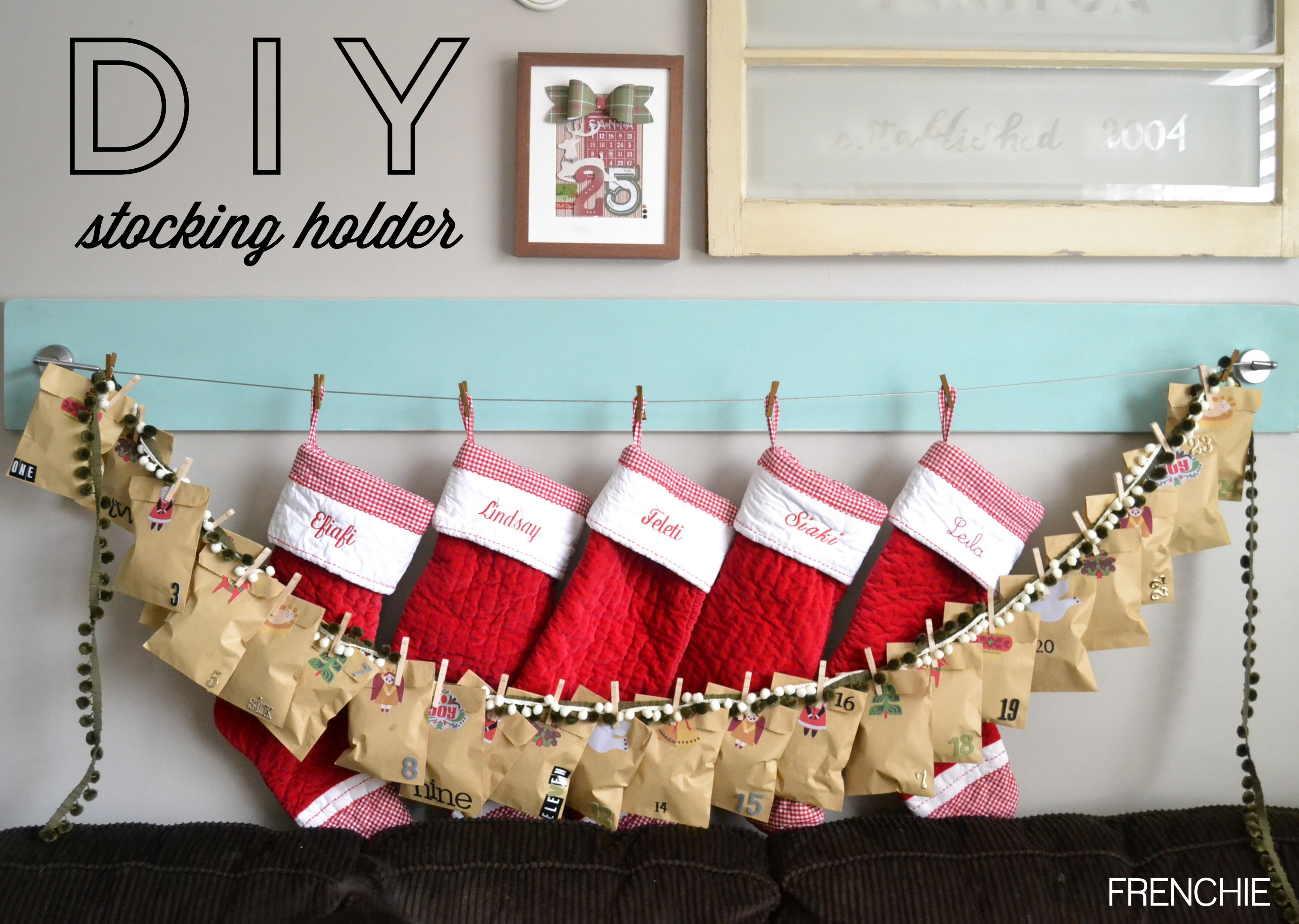 Captivating stocking holder for interior decor ideas with christmas stocking holders
