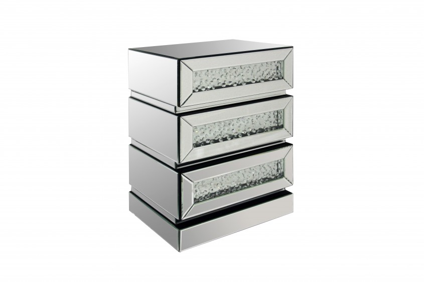 Charming Mirror Nightstand For Bedroom Furniture With Mirrored Nightstand