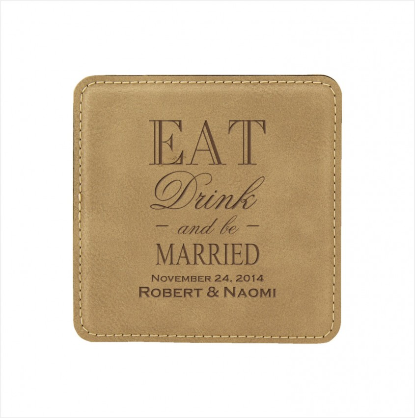 Charming Personalized Coasters For Furniture Accessories With Personalized Drink Coasters