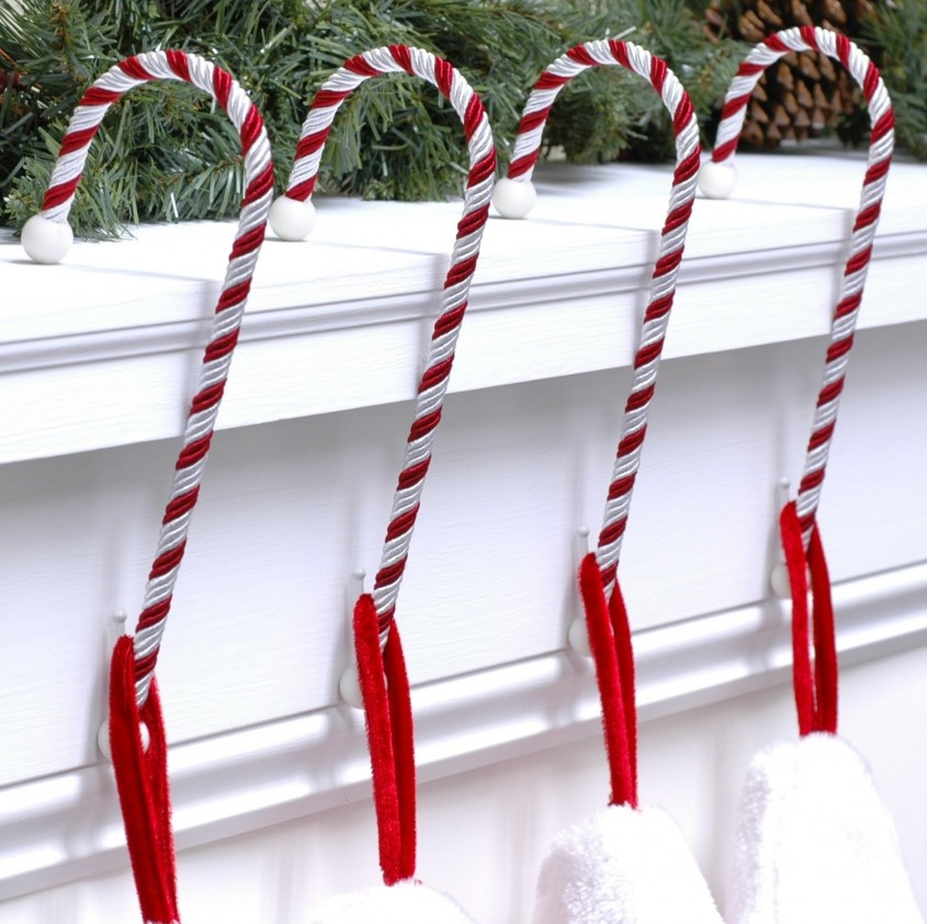 Charming Stocking Holder For Interior Decor Ideas With Christmas Stocking Holders