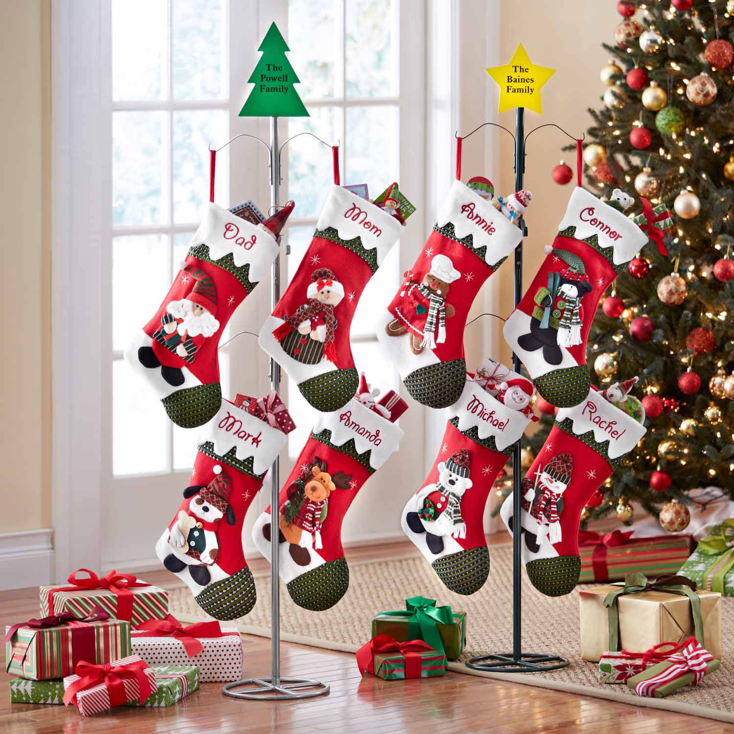 Chic monogrammed christmas stockings for christmas decor ideas with monogram christmas stockings