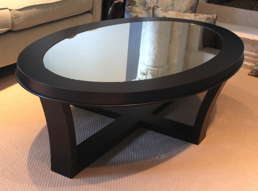 Chic Oval Coffee Table For Home Furniture With Oval Glass Coffee Table