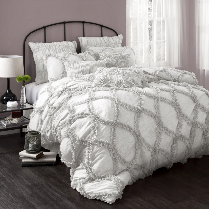 Chic White Comforter Sets For Charming Bedroom Ideas With White Comforter Sets Queen