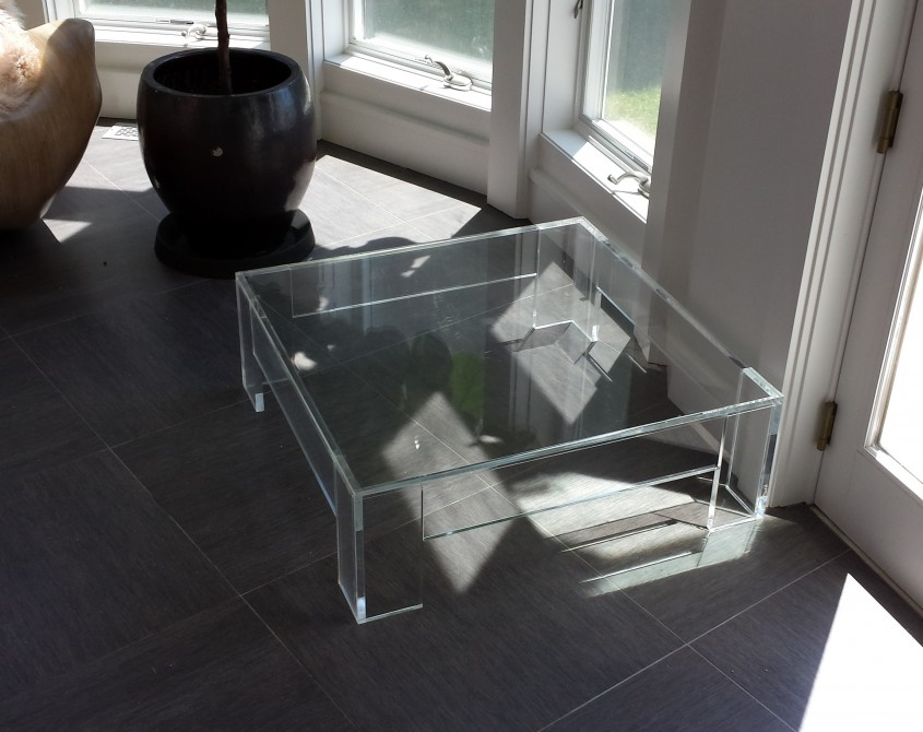 Classy Acrylic Coffee Table For Home Furniture With Clear Acrylic Coffee Table