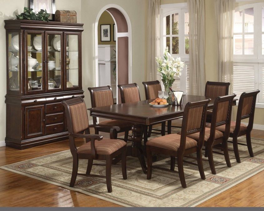Classy Formal Dining Room Sets With Buffet And Ceiling Light For Home Design With Modern Formal Dining Room Sets