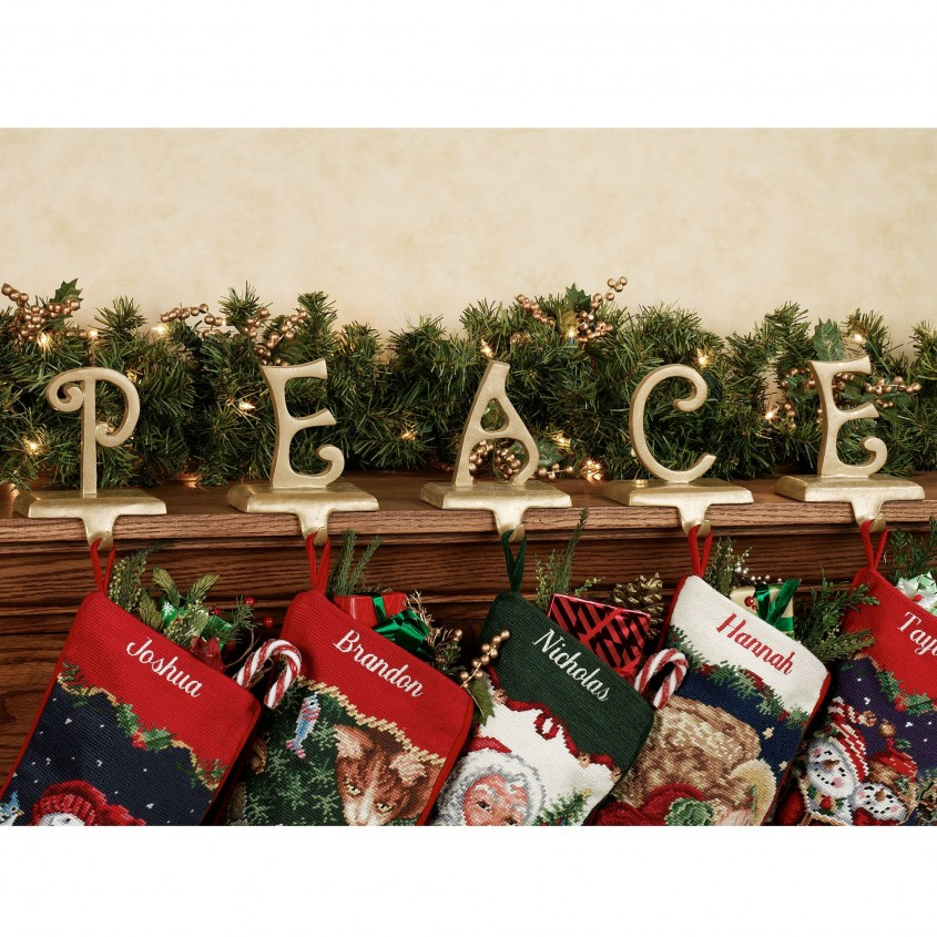 Classy Stocking Holder For Interior Decor Ideas With Christmas Stocking Holders