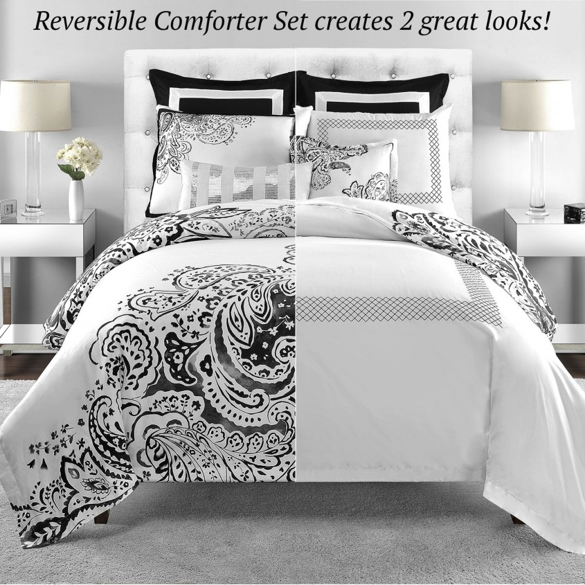 Classy White Comforter Sets For Charming Bedroom Ideas With White Comforter Sets Queen