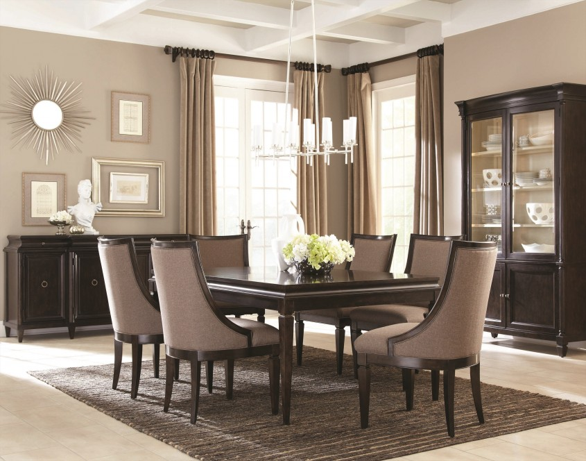 Comfy Formal Dining Room Sets With Buffet And Ceiling Light For Home Design With Modern Formal Dining Room Sets