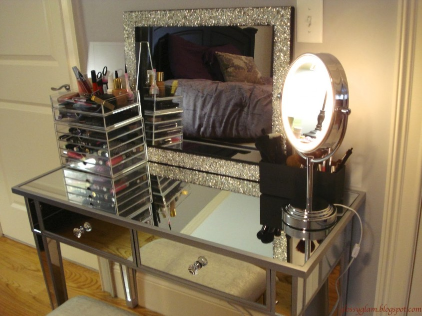 Comfy Mirrored Vanity For Home Furniture And Vanity Mirror With Lights