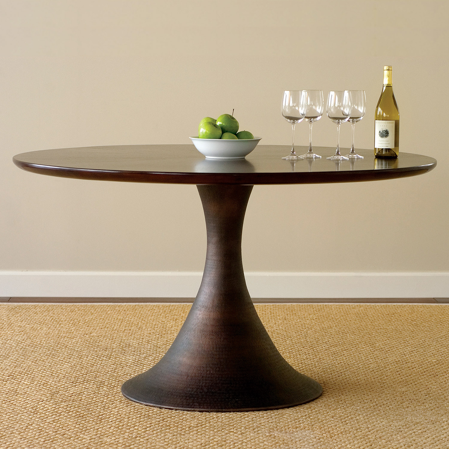 Comfy pedestal dining table and chair for dining room with round pedestal dining table