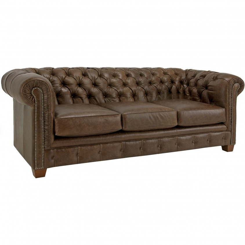 Comfy Tufted Leather Sofa For Living Room Design With Tufted Leather Sectional Sofa