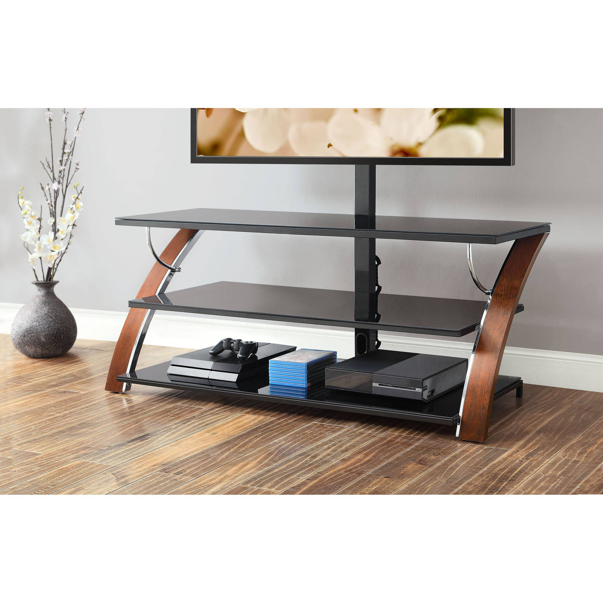 Comfy whalen tv stand for furniture accessories design with whalen 3-in-1 tv stand