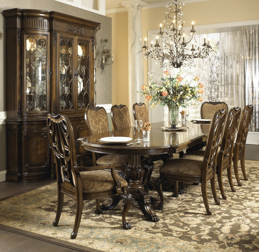 Cool Formal Dining Room Sets With Buffet And Ceiling Light For Home Design With Modern Formal Dining Room Sets